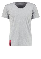 Alpha Industries Basic Tshirt Grey Heather Light Grey