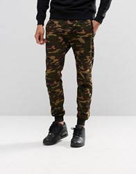 Pull And Bear Pullandbear Camo Joggers Khaki Green