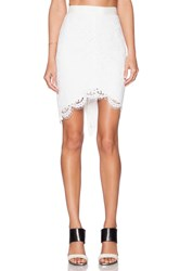 Rachel Zoe Jules High Low Lace Skirt White