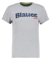 Blauer Print Tshirt Grigio Melange Mottled Light Grey