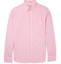 J.Crew Slim Fit Button Down Collar Striped Stretch Cotton Shirt Pink