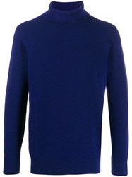 Circolo 1901 Rollneck Knit Sweater Blue