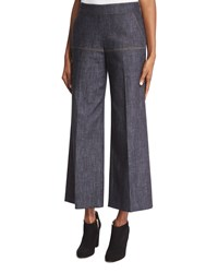 Derek Lam Side Zip Denim Gaucho Pants Indigo Women's