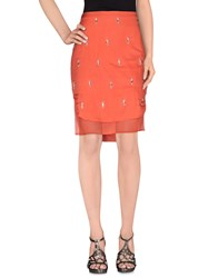 Elisabetta Franchi Gold Skirts Knee Length Skirts Women Coral