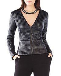 Bcbgmaxazria Pearson Faux Leather Jacket Black