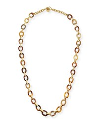 Ashley Pittman Shamba Light Horn Link Necklace