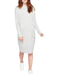 Miss Selfridge Slouchy Pocket Knitted Dress Grey