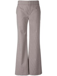 Chloe Check Flared Trousers