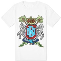 Neil Barrett Coat Of Arms Print Tee White