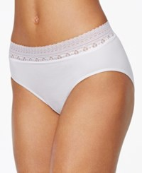 Bali Comfort Revolution Lace Brief 803J White
