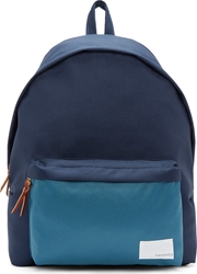 Nanamica Navy And Green Canvas Day Pack Backpack