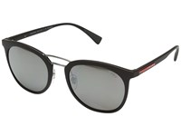 Prada Linea Rossa 0Ps 04Ss Brown Rubber Polar Dark Brown Mirror Silver