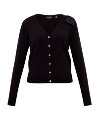 Ted Baker Bevie Bow Cashmere Blend Cardigan Black