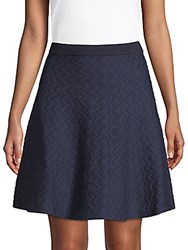 Saks Fifth Avenue Chevron Flared Skirt White Star