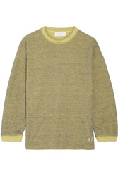 Keji Metallic Cotton Blend Sweatshirt Yellow
