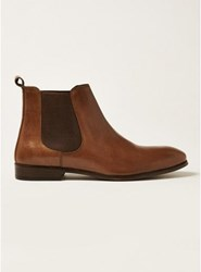 Topman Brown Tan Leather Throne Chelsea Boots