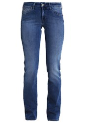 Wrangler Sara Straight Leg Jeans Greatest Blues Blue Denim
