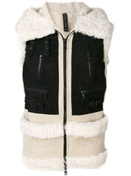 Giorgio Brato Shearling Gilet Nude And Neutrals