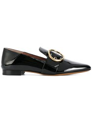 Bally Buckled Front Pointed Loafers Women Leather Patent Leather 39.5 Black