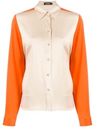 J. Lindeberg J.Lindeberg Colour Block Fitted Shirt Orange