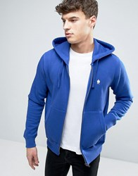 French Connection Zip Through Hoodie Blue