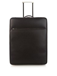 Valextra Leather Cabin Suitcase Grey