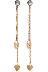 Lanvin Gold Plated Swarovski Crystal Earrings