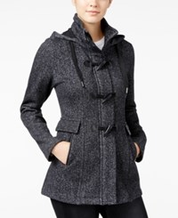 Amy Byer Bcx Juniors' Hooded Toggle Coat Black