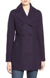 Michael Michael Kors Wool Blend Peacoat Regular And Petite Deep Plum
