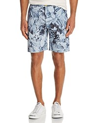 Robert Graham Indonesia Floral Print Shorts Blue