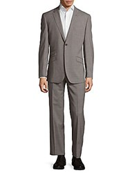 English Laundry Wool Buttoned Suit Medium Grey