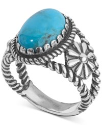 American West Turquoise Ring 4 1 5 Ct. T.W. In Sterling Silver