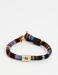 Icon Brand High Society Woven Bracelet Pink