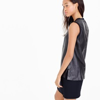 J.Crew Collection Leather Tank Top