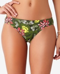 Anne Cole Studio Happy Strappy Bikini Bottoms Swimsuit Green