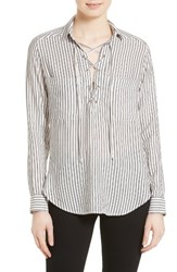 The Kooples Women's Stripe Lace Up Top