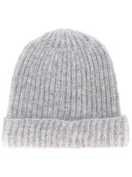Alysi Knitted Beanie Grey