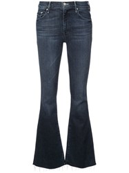 Mother Flared Mid Rise Jeans Blue