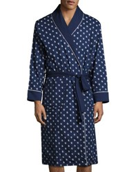 Original Penguin Print Terry Robe Blue