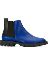 A Tudes Studio Chunky Sole Chelsea Boots Blue
