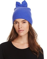 Kate Spade New York Knit Hat With Bow Blue