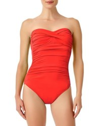 Anne Cole One Piece Gathered Swimsuit