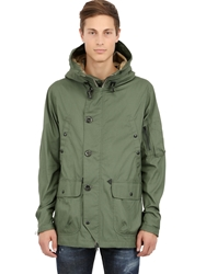 Spiewak Cotton And Nylon Blend Army Parka Military Green