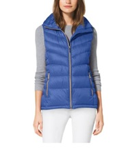Michael Kors Quilted Nylon Vest Aster Blue