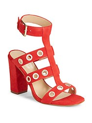 Saks Fifth Avenue Phaedra Grommeted Sandals Red