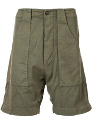 Bassike Straight Leg Bermuda Shorts Green