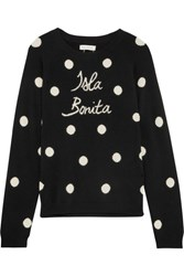 Chinti And Parker Isla Bonita Intarsia Cashmere Sweater Black