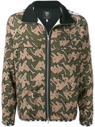 P.A.M. Perks And Mini Pam Camouflage Print Sports Jacket Green