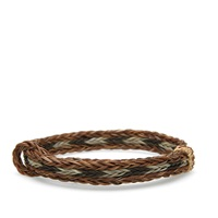 Chamula Braided Horsehair Bracelet Brown Black And White