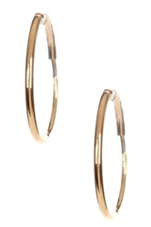14K Gold Infinity Hoop Earrings Metallic